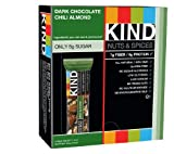 KIND Nuts & Spices, Dark Chocolate Chili Almond, 12 Count Bars, 16.8oz