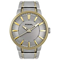 Fossil Watches Sale - Fossil Men's Round Two-Tone Stainless Steel Watch #FS4405