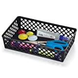 Achieva Large Supply Basket, Pack of 2, Recycled, Black (26202)