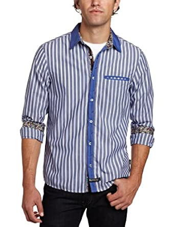 English Laundry Men's Thames Shirt, Blue, Small