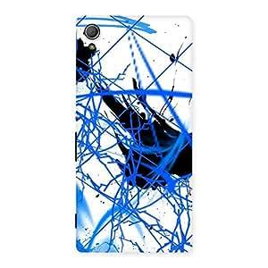 Blue Splasher Back Case Cover for Xperia Z3 Plus