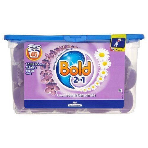Bold 2 in 1 Lavender & Camomile Detergent + Fabric Softener 1 x 45 Washes 1.575g