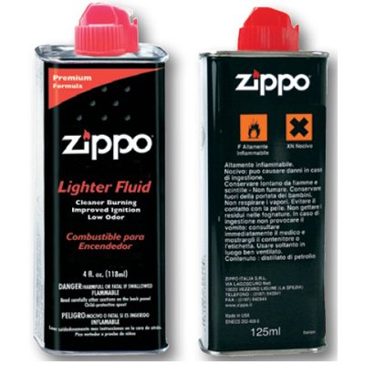 ZIPPO Benzina Originale 2 Flaconi da 125ml cadauno (Totale 250ml)
