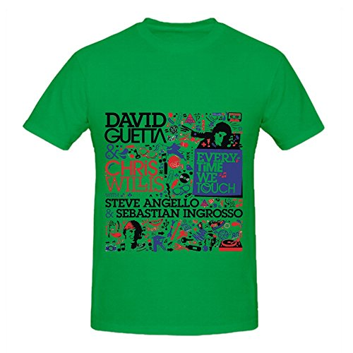 David Guetta Everytime We Touch Men O Neck Music Shirt Green (Ninja Turtle Bicycle Jersey compare prices)