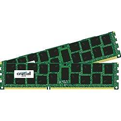 Crucial [Micron製Crucialブランド] DDR3 1866 MT/s (PC3-14900) 32GB Kit (16GBx2) CL13 Registered DIMM 240pin for Mac CT2K16G3R186DM