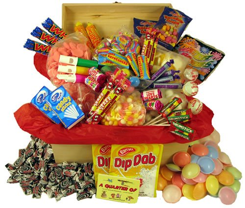 A Large Wooden Box of Nostalgia - A Treasure Box of Retro Sweets: Perfect Birthday Present