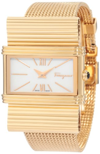 Ferragamo Women's F69MBQ5091 S080 Renaissance Gold Plated White Mother-Of-Pearl Watch