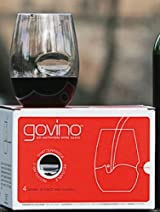 govino Stemless Shatterproof Wine Glasses (Set of 4