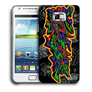 Snoogg Colorful Craft Designer Protective Back Case Cover For Samsung Galaxy S2
