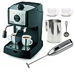 DeLonghi EC155 15 BAR Pump Espresso and Cappuccino Maker Bundle made by Delonghi