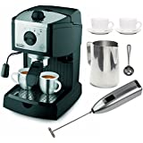 DeLonghi EC155 15 BAR Pump Espresso and Cappuccino Maker Bundle