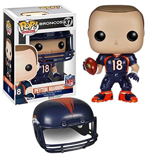 "Funko Pop NFL Wave 2: Peyton Manning Vinyl Action Figure Collectible Toy, 3.75"" PRS"