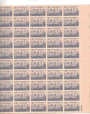 Colorado Capital Full Sheet of 50 x 3 Cent US Postage Stamps NEW Scot #1001