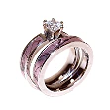 buy Pink Camouflage Engagement Ring And Matching Wedding Band