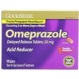 GoodSense Omeprazole Delayed Release, Acid Reducer Tablets 20 mg, 14 Count
