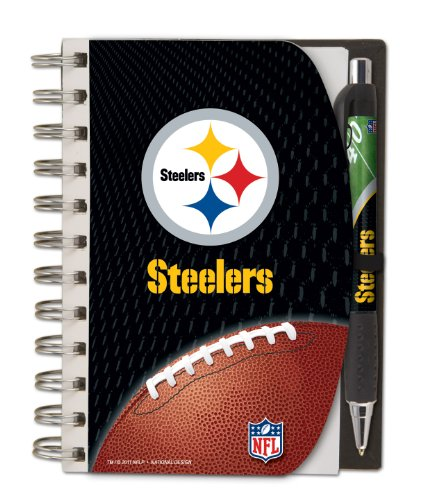 Pittsburgh Steelers Deluxe Hardcover, 4 x 6 Inches Notebook and Pen Set, Team Colors (12023-QUW) at Amazon.com