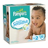 Pampers Swaddlers Sensitive Diapers Economy Pack Plus Size 2, 168 Count (Packaging May Vary)