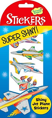 Peaceable Kingdom Super Shiny! Foil Jet Plane Sticker Pack