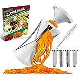 Spiralizer® 4-Blade Vegetable Spiral Slicer, 150% Larger, 50% Less Waste, Compact Veggie Spaghetti/Pasta Maker