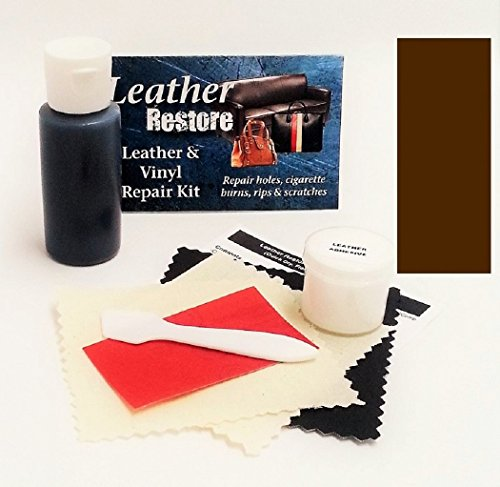 Leather Repair Kit with READY TO USE Color, DARK BROWN (Pleather Repair Kits For Couches compare prices)