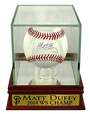 "SF Giants Matt Duffy Autographed Official MLB Baseball w/ ""2014 WS CHAMP"" Case (COA)"