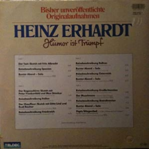 heinz erhardt humor ist trumpf vinyl record vinyl lp music. Black Bedroom Furniture Sets. Home Design Ideas