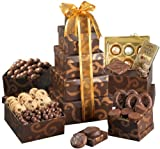 Broadway Basketeers Gift Tower, Gourmet Chocolate