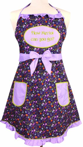 Manual Vintage Style Kitchen Apron, How Merlot Can You Go front-1017724