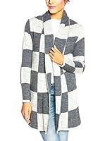 SO Cachemire & Knitwear Chaqueta Punto Sienna (Gris / Blanco)