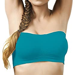 Eraa Non-Padded & Non-Wired Seamless Tube Bra For Women_Sea Green_ (Size:Free)