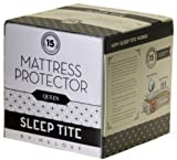 Queen Size SLEEP TITE by Malouf Mattress Protector &#8211; 100% Waterproof-Eliminates Dust Mites -15 Year Warranty