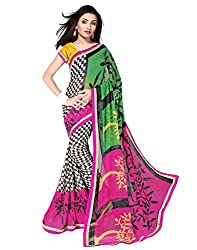 Sailaxmi Fashion Women's Crepe Silk Saree(SLFS005_Multi-Coloured)