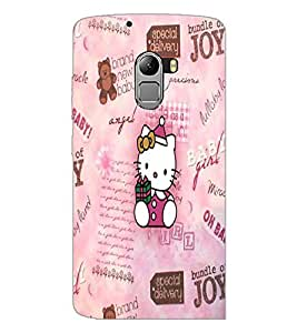 PrintDhaba Kitty D-4535 Back Case Cover for LENOVO K4 NOTE A7010 (Multi-Coloured)