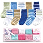 Luvable Friends 10-Piece Baby Socks G...