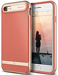 iPhone 7 Case, Caseology [Wavelength Series] Slim Ergonomic Ripple Design [Coral Pink] [Modern Grip] for Apple iPhone 7 (2016)