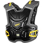 Leatt Adventure Junior Youth Chest Protector MX/Off-Road/Dirt Bike Motorcycle Body Armor - Black / One Size