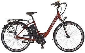 Prophete Damen Elektrofahrrad E-Bike Alu-City 28 Zoll E-Novation Navigator 6.6, dunkelrot matt, 46, 52456-0111