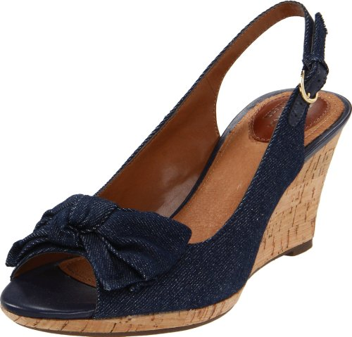 Clarks Women'S Fiddle Bow Ii Slingback Sandal,Denim,9.5 M Us front-837970