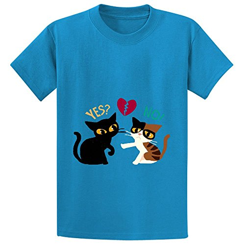 yes-or-no-teen-crew-neck-customized-t-shirt-blue