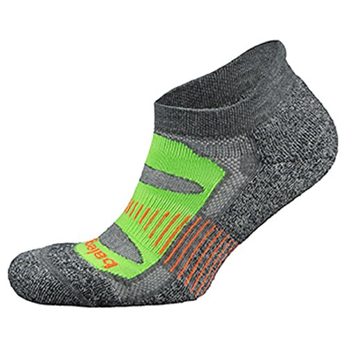 Balega Blister Resist Running Socks (X-Large, Charcoal/Lime)