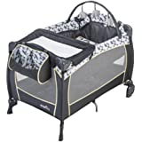 Evenflo Portable Baby Suite Deluxe, Raleigh, Grey, Black, White