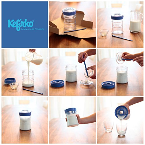 Kefir fermenter kit easily brew your own milk kefir and water kefir