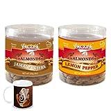 Chocholik - Almonds Jamaican Jerk & Lemon Pepper 2 Combo Pack With Diwali Special Coffee Mug - Diwali Gifts