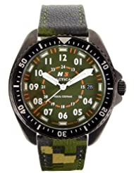H3 Tactical Men's H3.202461.09 FIELD OPS Green Camo Strap Watch