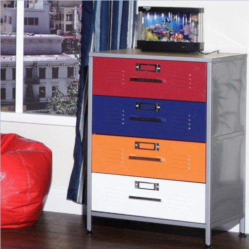 Bargain Elite Products Locker Multicolor 4 Drawer Dresser