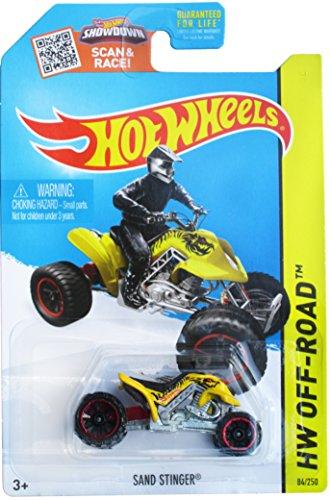 Hot Wheels, 2015 HW Off-Road, Sand Stinger [Yellow] ATV Die-Cast Vehicle #84/250 - 1