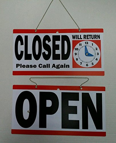1 Set Greatest Popular Open Closed Hanging Sign Store Notice Door Adhesive Window Decal Size 6