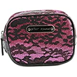 Betsey Johnson Square Cosmetic Case Women PVC Pink Cosmetic Bag NWT