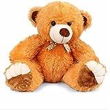 Liviya Sitting Teddy Bear Soft Toy (Dark Brown)
