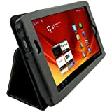 Acer Iconia A100 7-Inch Tablet Custom Fit Portfolio Leather Case Cover with Built In Stand- Black
